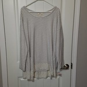 Style& Co striped Scoop neck shirt 2x
